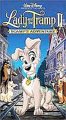 Disney-039-s-Lady-and-the-Tramp-2-Scamps-Adventure-VHS-Clamshell-BUY3GET1