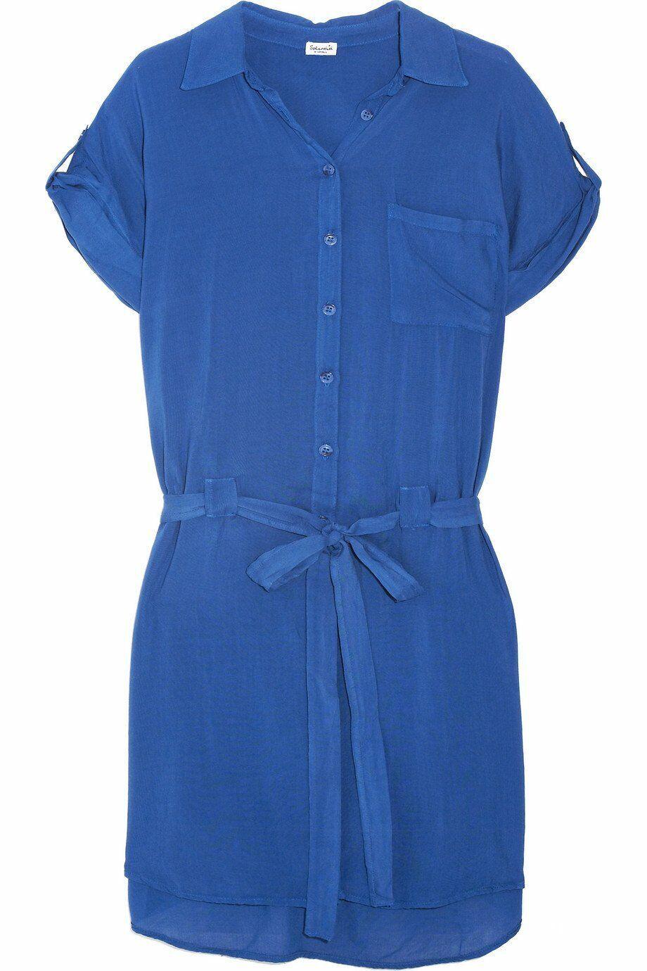 SPLENDID Electric Blau Viole Shirt Dress XS NEW