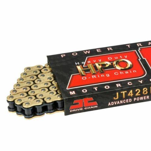JT HPO Heavy Duty Gold /& Black O-Ring Chain 428 x 132 KSR-Moto GRS 125 2016