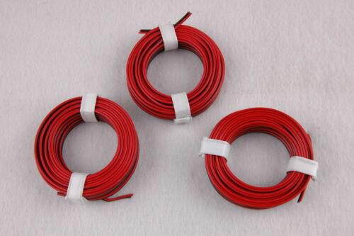 Twin Strand 3 x 5m Red//Black 1m = EUR 0,397 € NEW *