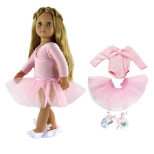 Pink-Ballet-Dance-Clothes-Shoes-for-18-039-039-AG-American-Doll-My-Life-Journey-Dolls