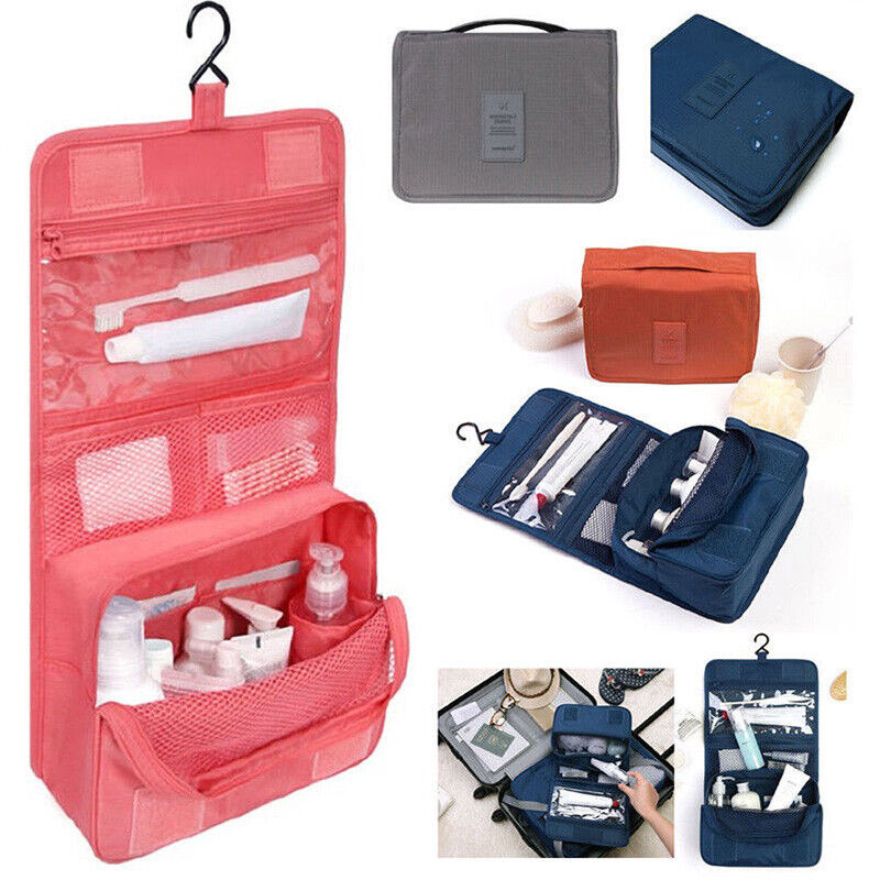 S Hanging Toiletry Bag Travel Cosmetic Kit Large Essentials Organizer ... - s l1600