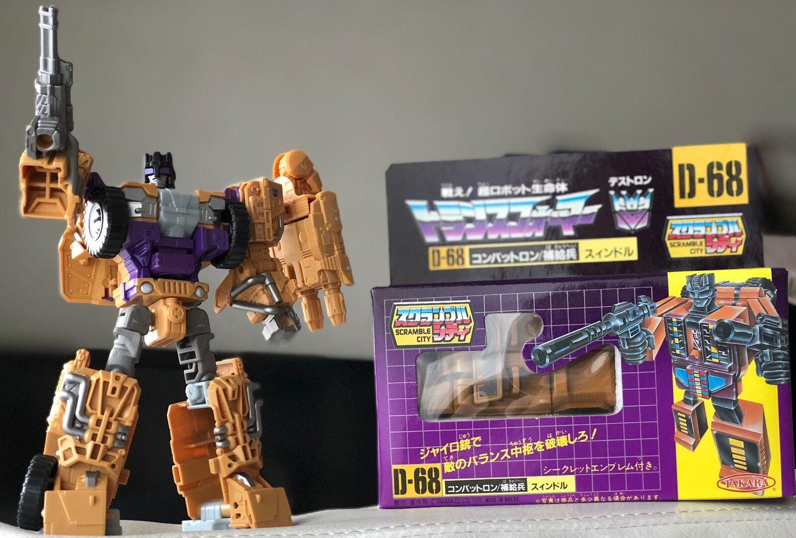 compra limitada Takara Transformers D-68 D-68 D-68 Combaticons Swindle artículo Vintage y UW-07 Swindle sin usar  100% autentico