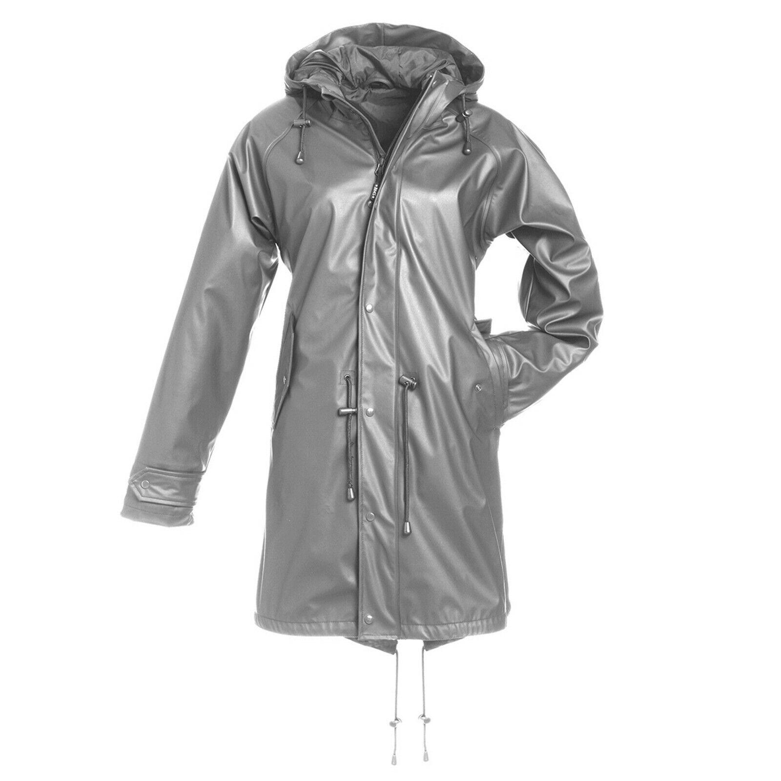 BMS HafenCity 50 Coat SoftSkin Friesennerz Regenmantel 100%wasserdicht grau grau