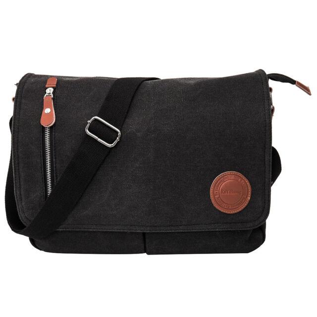 Men s Handbag Retro Briefcase Messenger Canvas Shoulder Satchel Bags ... 3c6bd90ed99fe