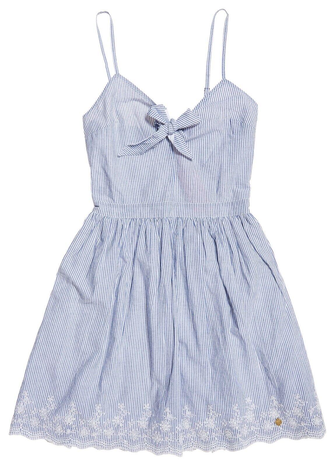 Superdry Alice KNOT DRESS blu bianca stripe