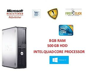 Fast-de-PC-PC-INTEL-QUAD-CORE-8-GB-RAM-500-GB-HDD-WiFi-Windows-10-Computadora-Dell-DVD