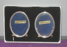 VINTAGE 1997 A PAIR OF SMALL STERLING SILVER EASEL PHOTO PICTURE FRAMES ANTIQUE