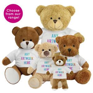 Promotional-Printed-or-Plain-Blank-Teddy-Bear-White-T-shirt-Logo-Printing-Bulk