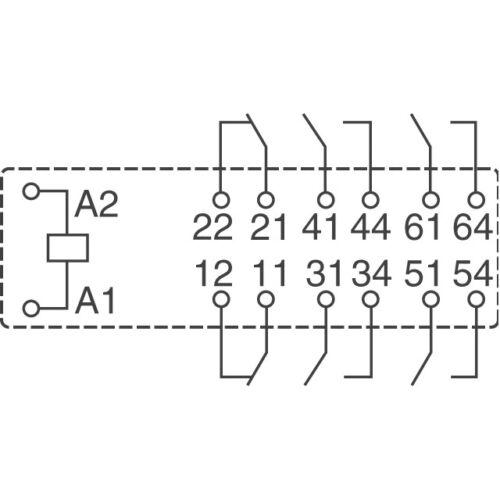 1 pc V23050-A1024-A542  Sicherheitsrelais Relais 4xNO 2xNC  8A  24V  NEW  #BP