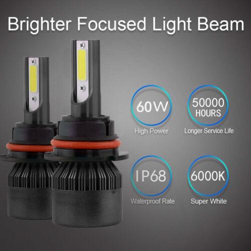 LED Headlight Kit H7 6000K White High Beam CREE Bulbs for FORD FUSION 2006-2019