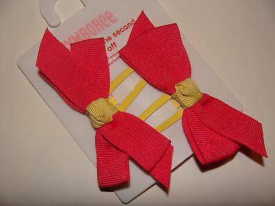 Gymboree Holiday Pictures Girls Hair Bows Barrettes NEW Plaid Red Black