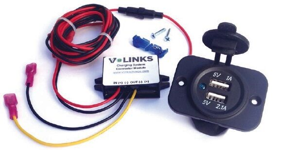 V-Links Charge Golf Cart Phone USB Charger for Electric Golf Carts