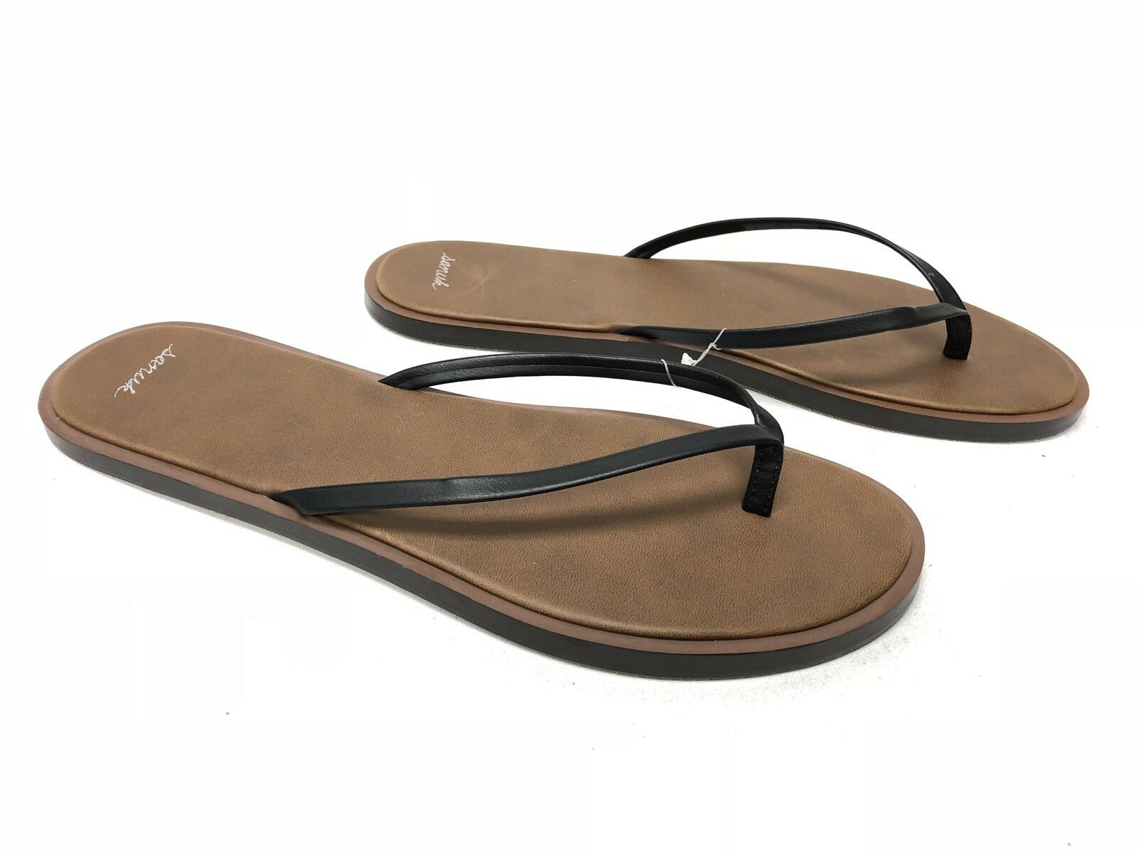 SANUK YOGA AURORA FLIP FLOPS SANDALS Black Mat Women's 1018657 Sandals Yoga Mat Black New e51445