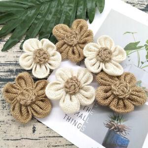 5Pcs-Handmade-Burlap-Flowers-Vintage-hessian-Jute-Wedding-Party-Decora-ZBJ