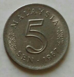 Parliament Series 5 sen coin 1987