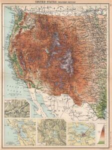 ROCKY MOUNTAINS. USA West. Yosemite San Francisco Yellowstone 1912 ...
