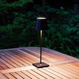 Batteria Ricaricabile Elipta Outdoor Led Lampada Da Tavolo Nero O Bianco Ebay