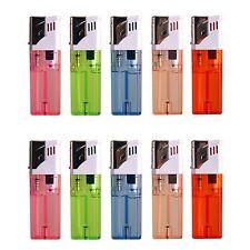 10 PACK Butane Gas Cigar Cigarette Lighter Jet Flame Torch Refillable Windproof