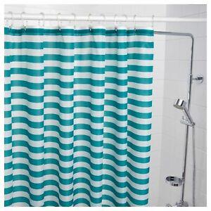 "White 71/"" x 71/"" NEW Ikea GATKAMOMILL Shower Curtain Turquoise"
