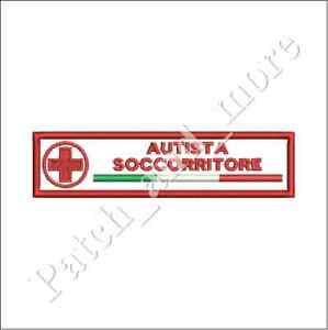Patch-AUTISTA-SOCCORRITORE-CROCE-ROSSA-CRI-cm-12x3-toppa-VEL-CRO-ricamo-1173
