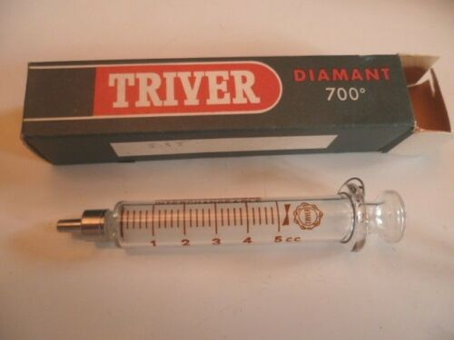 Super Seringue Neuve verre extra dur TRIVER avant 1960 5 cc
