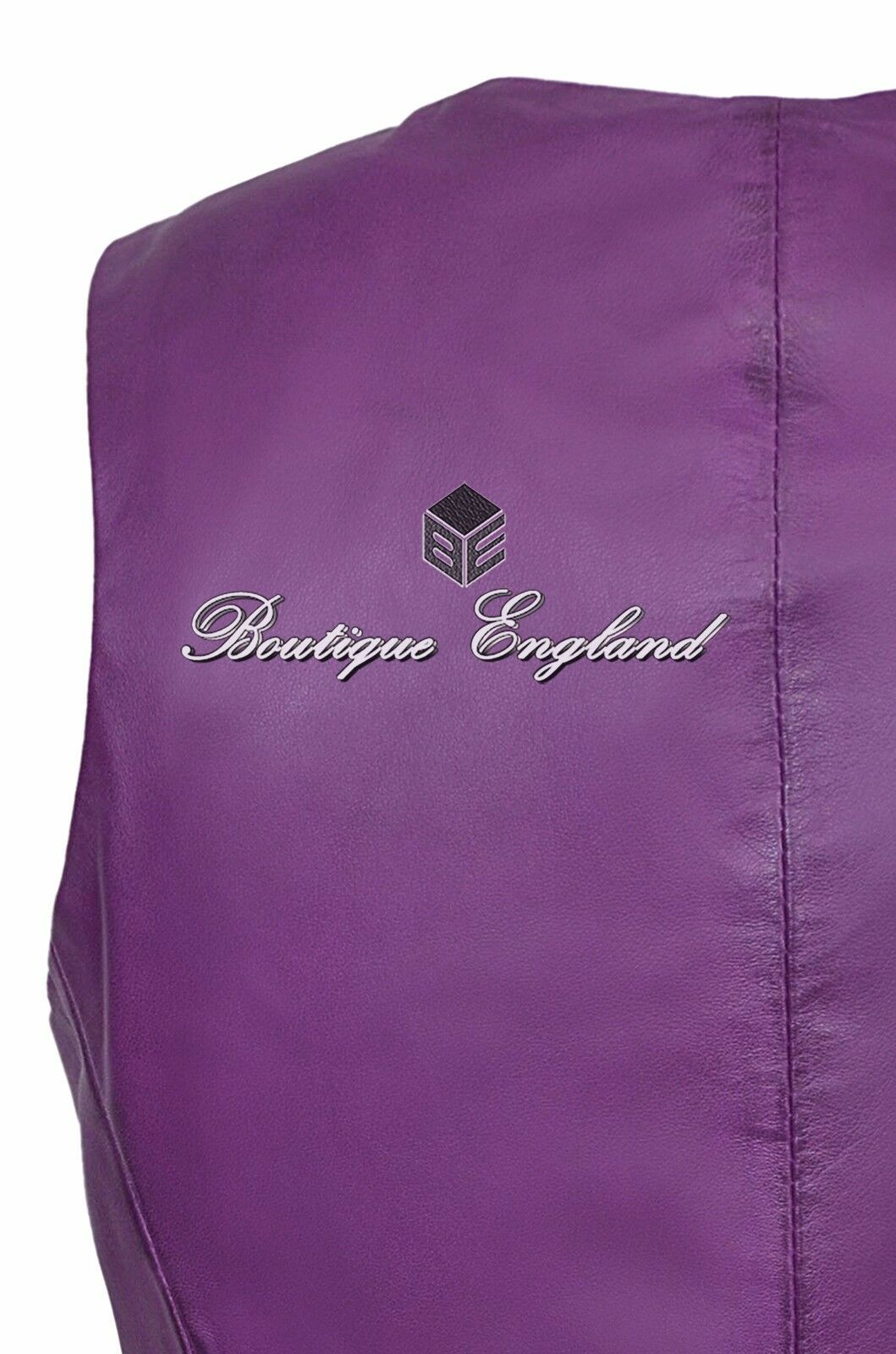 Ladies Waistcoat Leather PURPLE Casual Style Fashion Soft Soft Soft REAL LEATHER 5701 d3d596