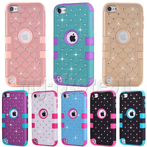 Hybrid-Bling-Glitter-Case-Cover-For-Apple-iPod-Touch-7th-6th-amp-5th-Generation