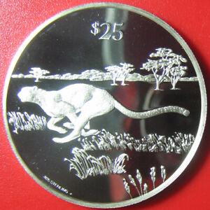 1993-BRITISH-VIRGIN-ISLANDS-25-SILVER-PROOF-CHEETAH-RUNNING-WILDLIFE-CAT-RARE