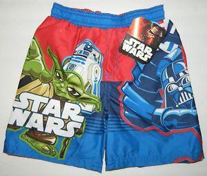 f9de57ec59 NWT STAR WARS Disney boys R2D2 Storm Yoda SWIM TRUNKS SHORTS* 3T 3 ...