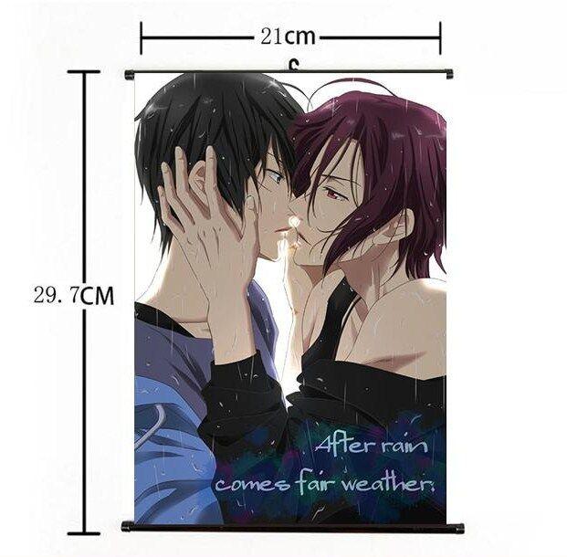 Hot Japan Anime Free! - Iwatobi Swim Club Home Decor Poster Wall Scroll 21*30 A+