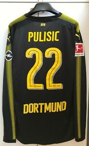 low priced e0345 e10f6 Details about PULISIC #22 Borussia Dortmund Jersey large 2017 2018 shirt  long sleeve soccer