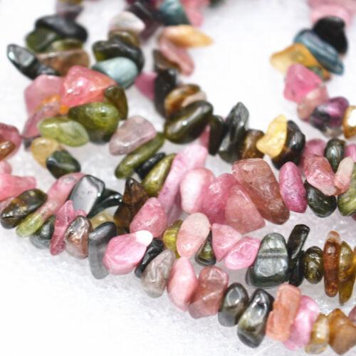 "DIY New Natural Tourmaline Freeform Gravel  Gemstone loose beads 15 /"""