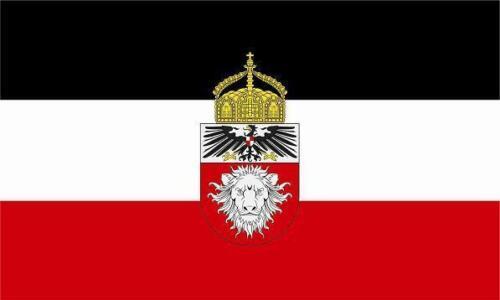 Fahne Flagge Deutsch Ostafrika mit Krone 20 x 30 cm Bootsflagge Premiumqualität