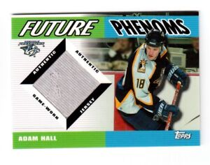 2003-04-TOPPS-TRADED-FUTURE-PHENOMS-GAME-USED-JERSEY-FP-AH-ADAM-HALL
