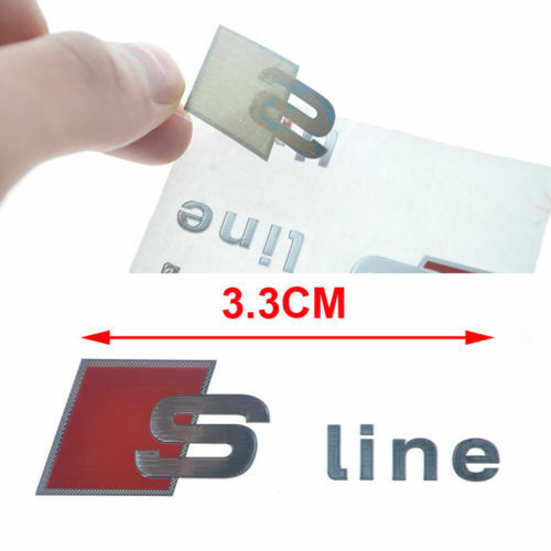 2x S Line Interiors Vehicle Alloy High Quality Decal Emblem Sticker For All Audi