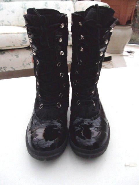 NAPAPIJRI Stiefel Stiefelette Boots Gr. Blanc Ski schwarz, Lackleder/Stoff Gr. Boots 40 6b404e