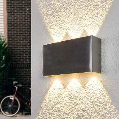 LED Außenwandleuchte Samanta Glaslinsen Aluminium Eckig Lampenwelt Wandlampe LED