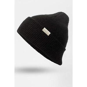 57affb186b1 Image is loading Womens-Neff-Black-Anya-Beanie-NWT-New-With-