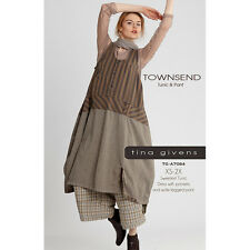 "TINA GIVENS ""TOWNSEND DRESS & WIDE LEGGED PANT"" Sewing Pattern"
