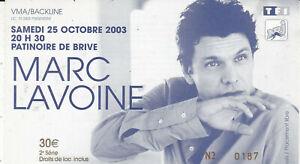 TICKET-DE-CONCERT-MARC-LAVOINE-25-OCTOBRE-2003-BRIVE-LA-GAILLARDE