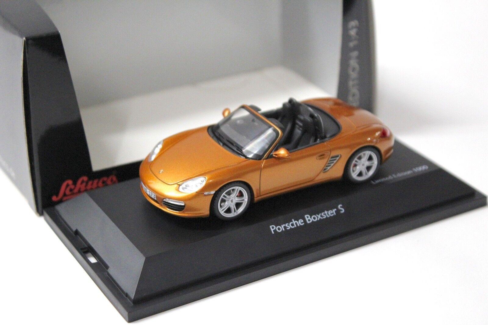 1 43 Schuco Porsche Boxster S or-Orange NEW chez Premium-modelcars