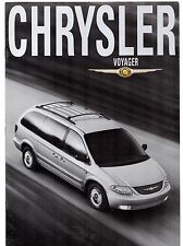 Chrysler Voyager & Grand Voyager 2000-02 UK Market Sales Brochure SE LX Limited