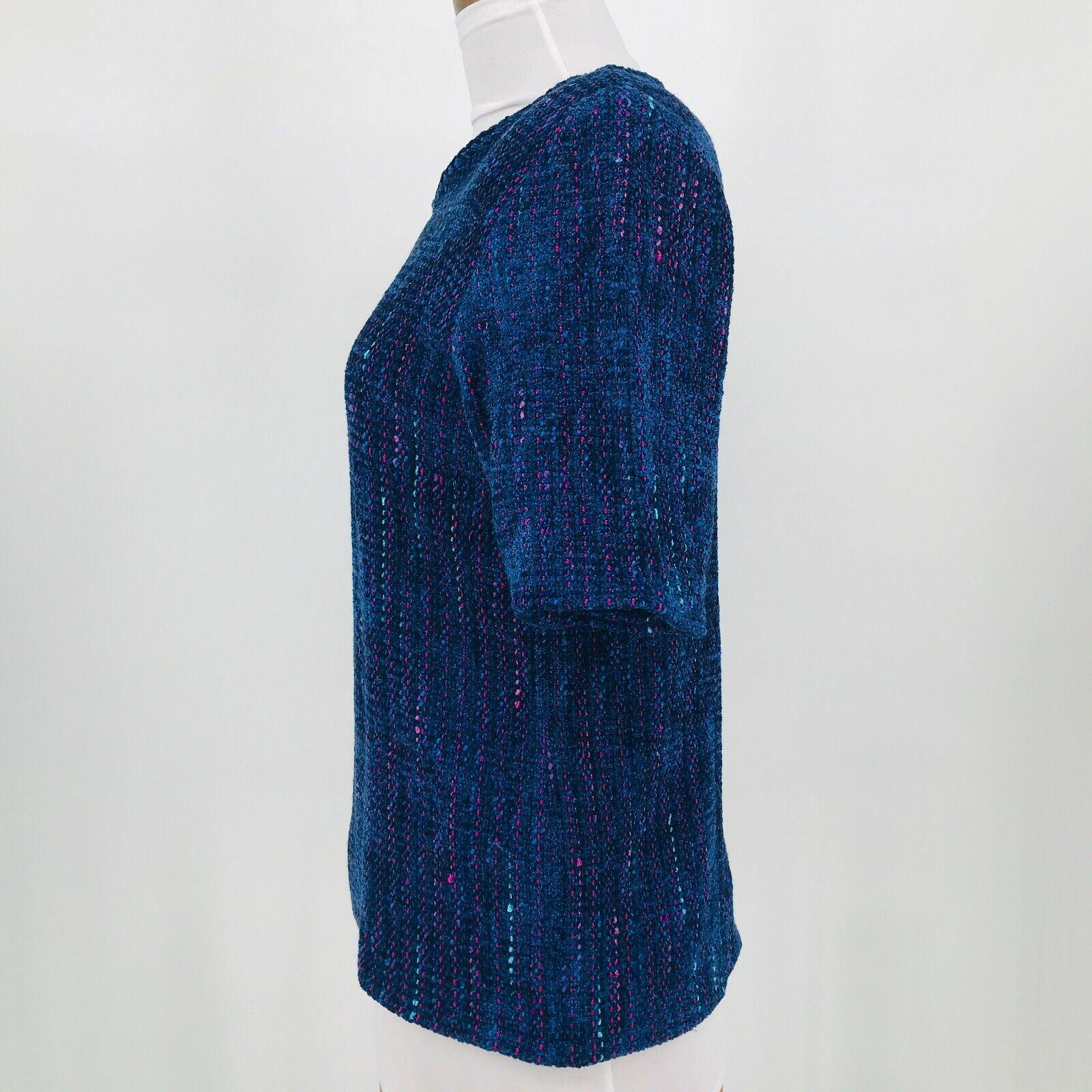 Laura Wearable Art Women's Top Vintage 1970's Vel… - image 5