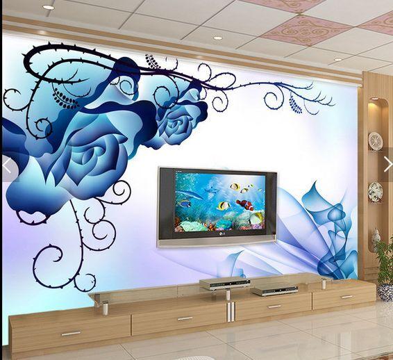 3D Blau Rose 24343535 Fototapeten Wandbild Fototapete BildTapete Familie DE