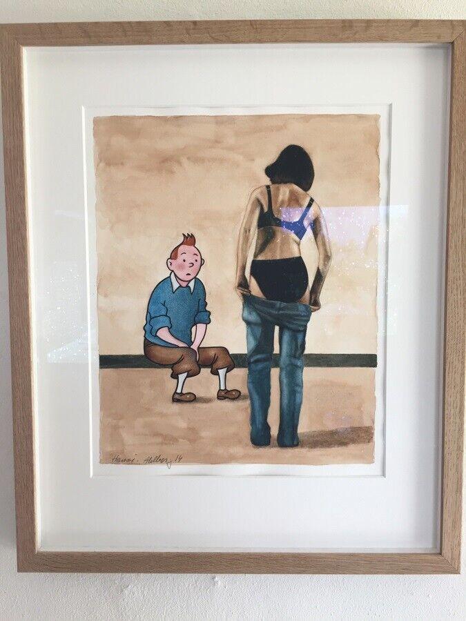 Splinternye Ole Ahlberg, Akvarel maleri... – dba.dk – Køb og Salg af Nyt og Brugt JA-65