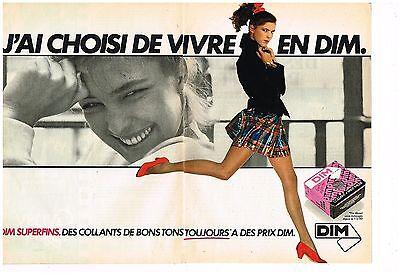 Publicité Advertising 1980 2 Pages Les Bas Et Collants Dim Superfins Easy And Simple To Handle