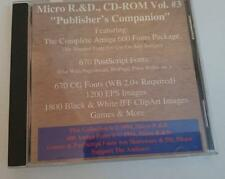"""Commodore Amiga CD   - Micro R& D CD-ROM Vol 3 - """"Publishers Companion""""   1994"""