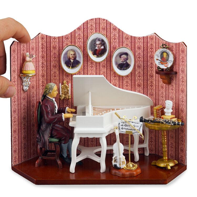 Reutter Porzellan Musikzimmer Compuser´s Music Diorama Wandbild Puppenstube 1 12