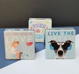 Handbag-Make-Up-Compact-Mirror-Love-Dog-Travel-Gift-For-Her-Him-Vintage